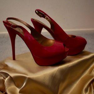 Qupid Pink High Heels
